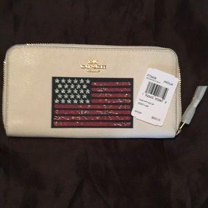 Coach Flag Accordion Wallet